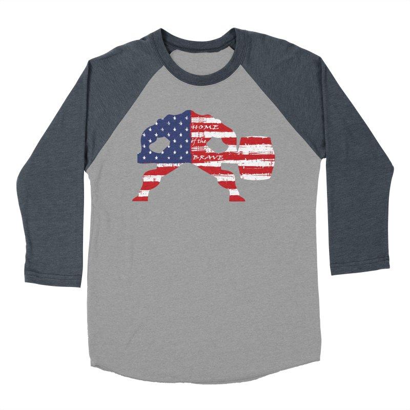 HAMMER THE BRAVE Men's Baseball Triblend Longsleeve T-Shirt by Hammer Life Apparel Shop