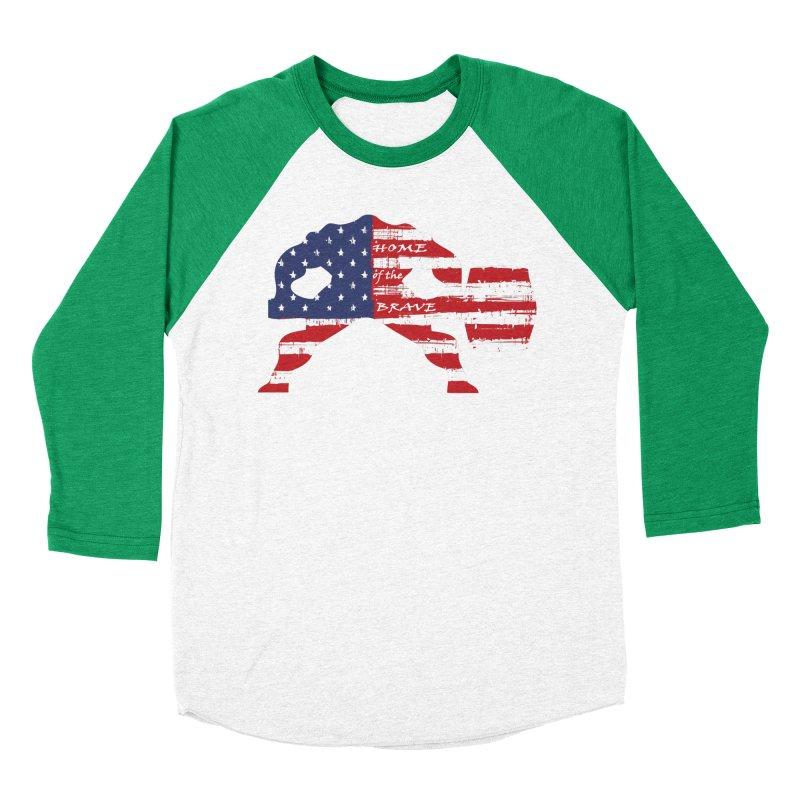 HAMMER BRAVE Men's Baseball Triblend Longsleeve T-Shirt by Hammer Apparel Shop