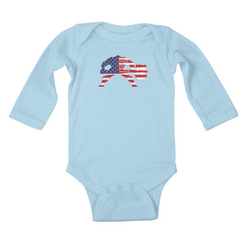 HAMMER BRAVE Kids Baby Longsleeve Bodysuit by Hammer Apparel Shop