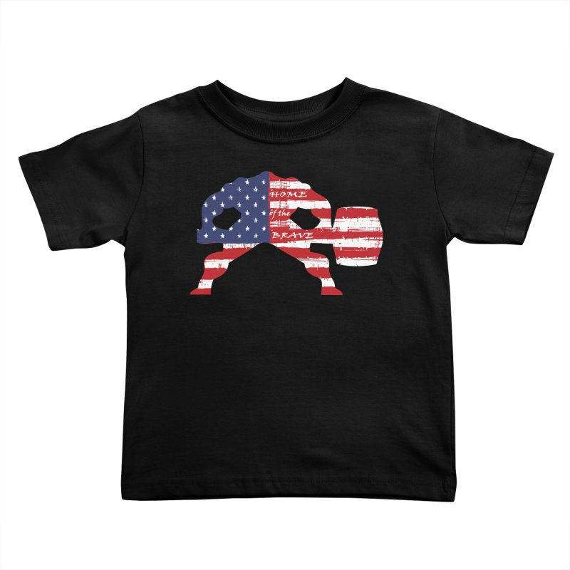Hammer - BE BRAVE - 4TH OF JULY EDITION Kids Toddler T-Shirt by Hammer Wrestling's Apparel Shop
