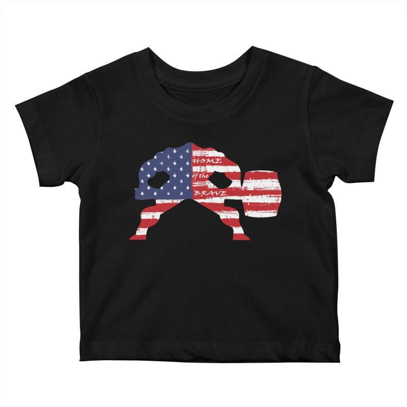 Hammer - BE BRAVE - 4TH OF JULY EDITION Kids Baby T-Shirt by Hammer Wrestling's Apparel Shop