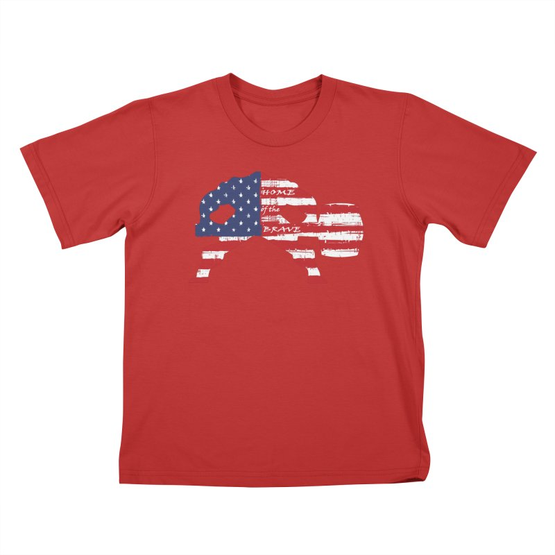 Hammer - BE BRAVE - 4TH OF JULY EDITION Kids T-Shirt by Hammer Wrestling's Apparel Shop