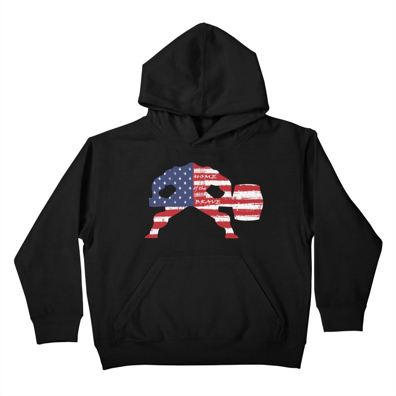Hammer - BE BRAVE - 4TH OF JULY EDITION Kids Pullover Hoody by Hammer Wrestling's Apparel Shop