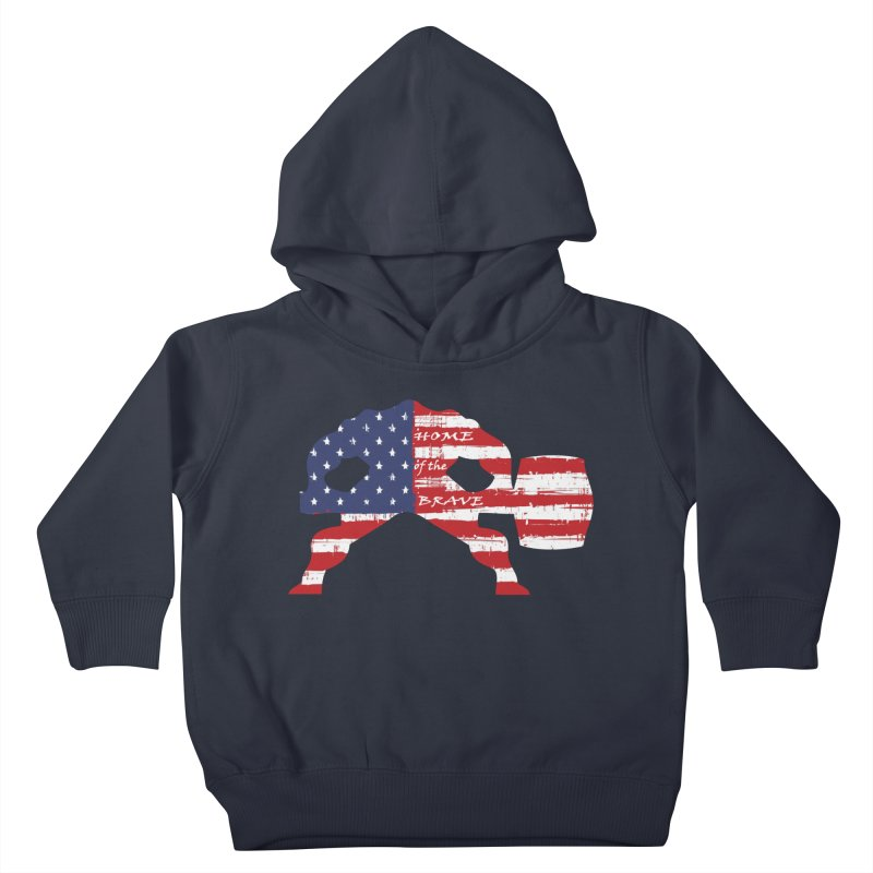 Hammer - BE BRAVE - 4TH OF JULY EDITION Kids Toddler Pullover Hoody by Hammer Wrestling's Apparel Shop