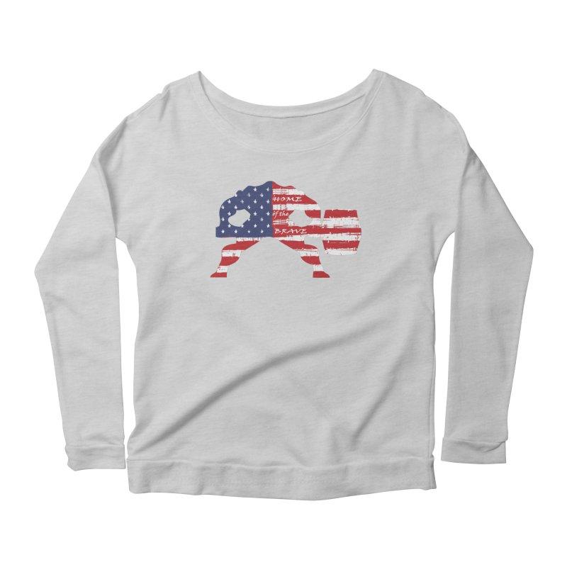 HAMMER AMERICA Women's Scoop Neck Longsleeve T-Shirt by Hammer Apparel Shop