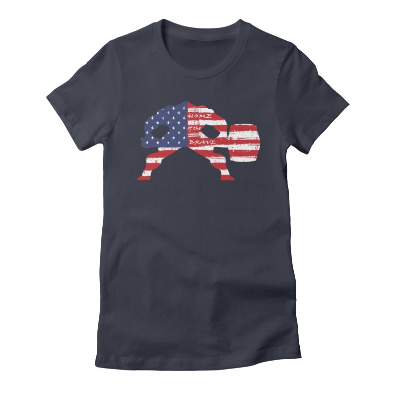 Hammer - BE BRAVE - 4TH OF JULY EDITION Women's Fitted T-Shirt by Hammer Life Apparel Shop