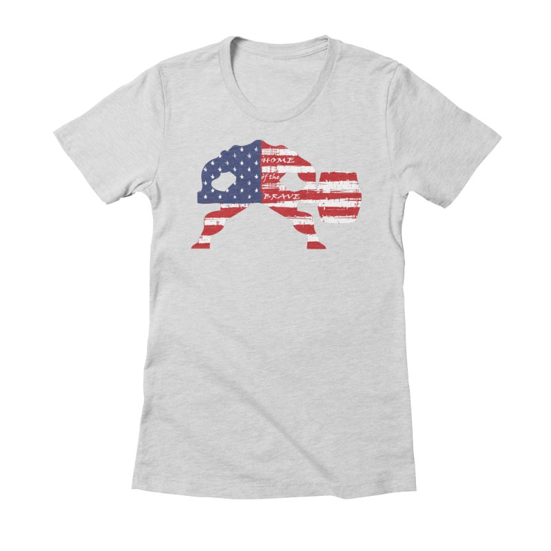 HAMMER AMERICA Women's Fitted T-Shirt by Hammer Apparel Shop