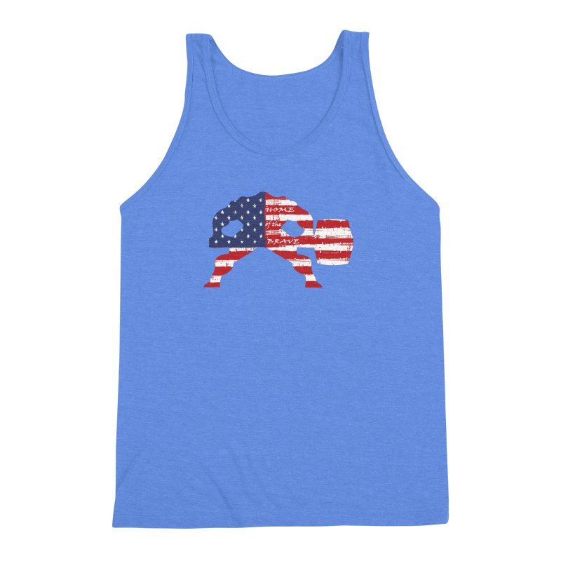 Hammer - BE BRAVE - 4TH OF JULY EDITION Men's Triblend Tank by Hammer Wrestling's Apparel Shop