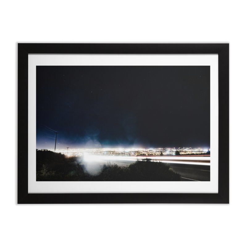 Leaving Town in Framed Fine Art Print Black by Hamster Age's Artist Shop