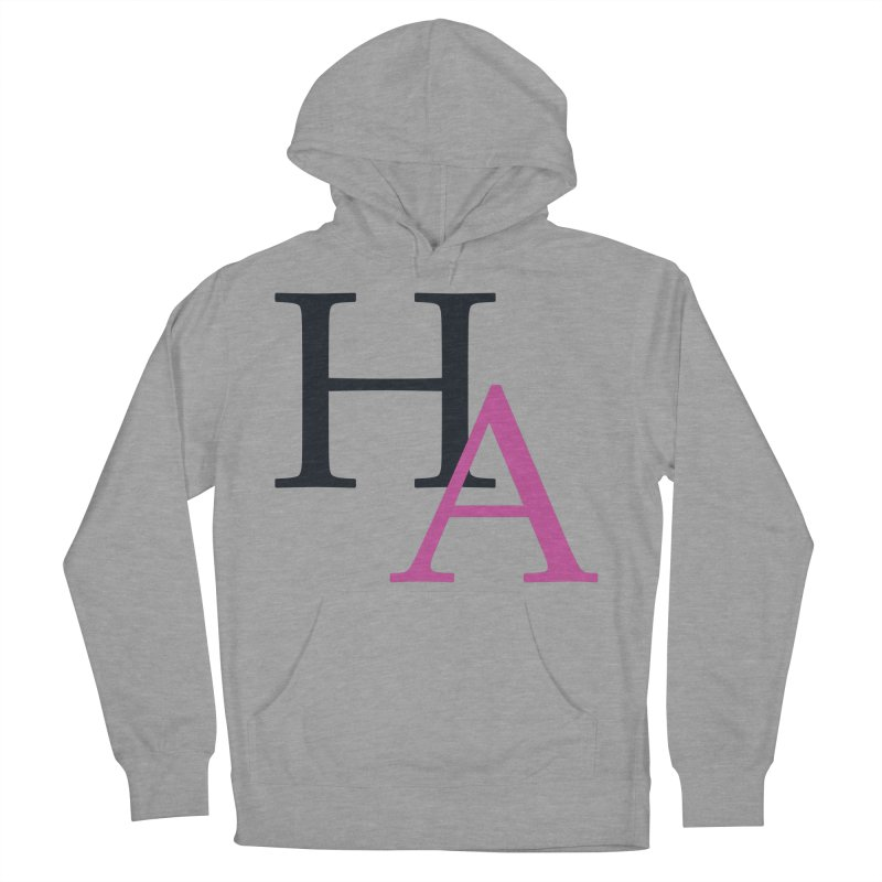 HA Initials Women's French Terry Pullover Hoody by Hamster Age's Artist Shop