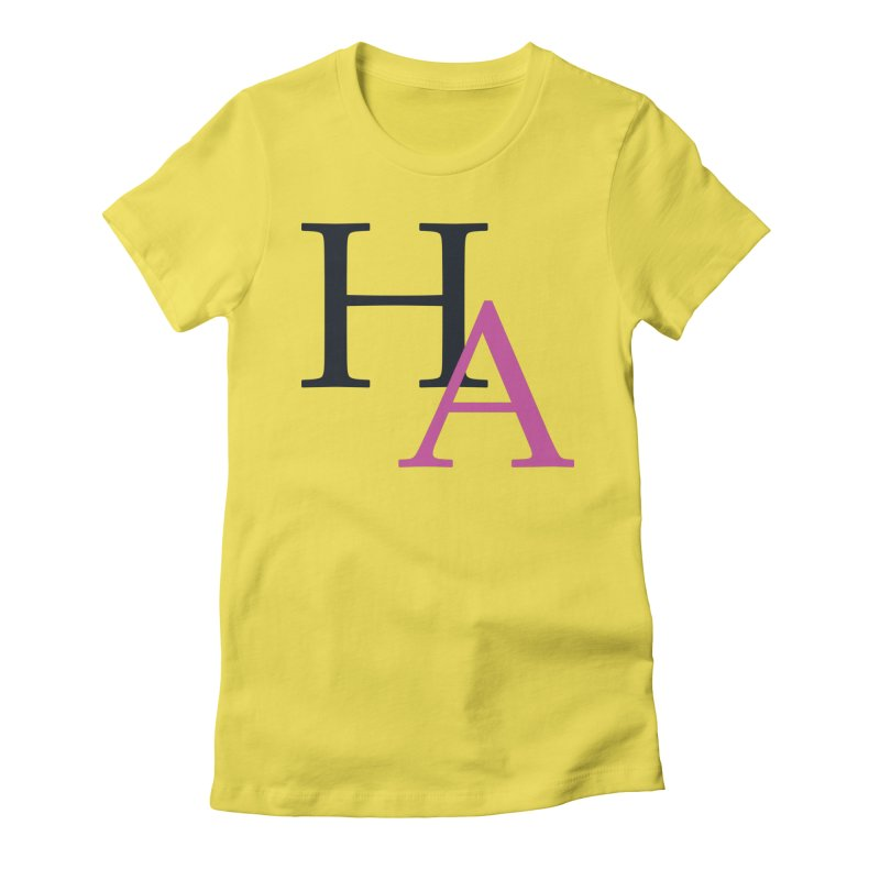 HA Initials Women's Fitted T-Shirt by Hamster Age's Artist Shop