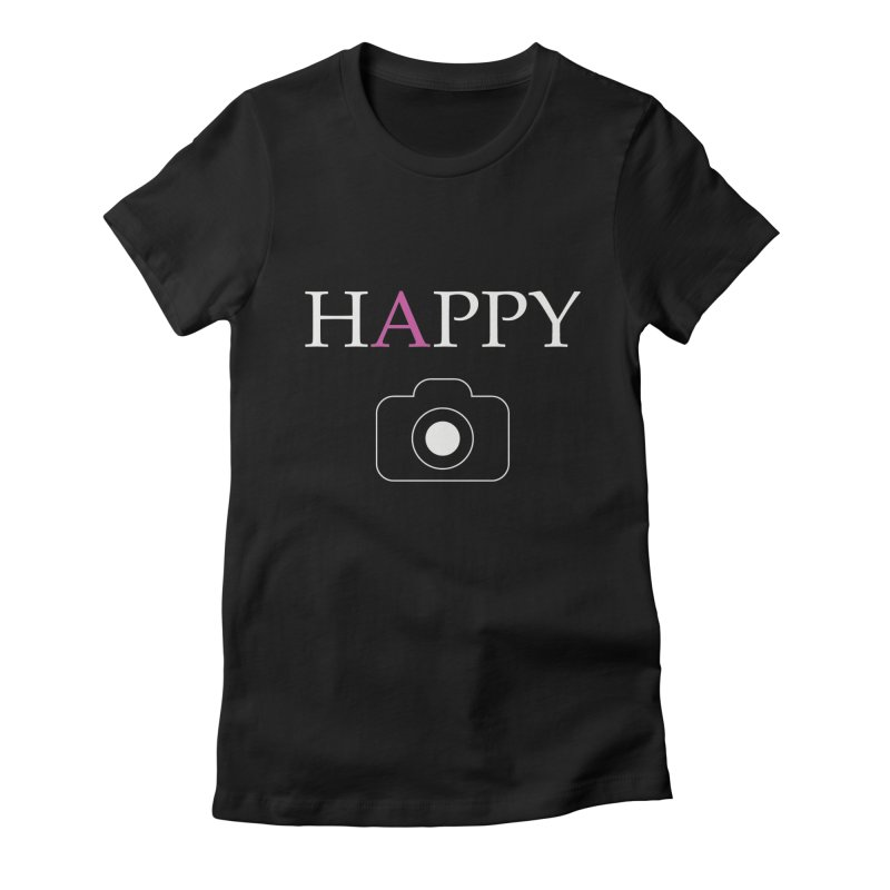 Camera Happy Women's Fitted T-Shirt by Hamster Age's Artist Shop