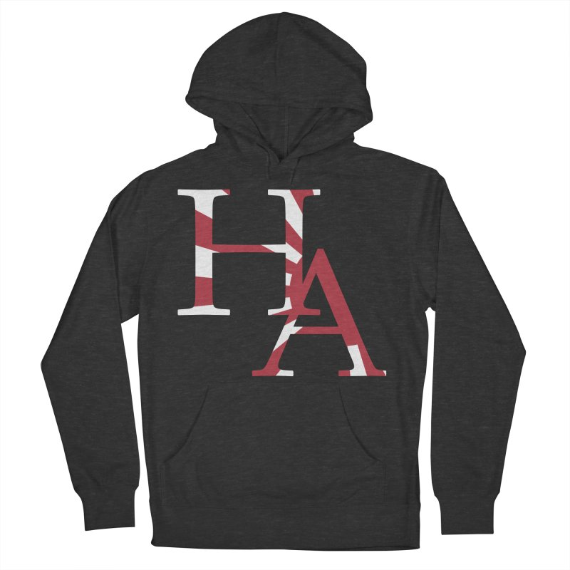 HA Initials Jap Men's French Terry Pullover Hoody by Hamster Age's Artist Shop