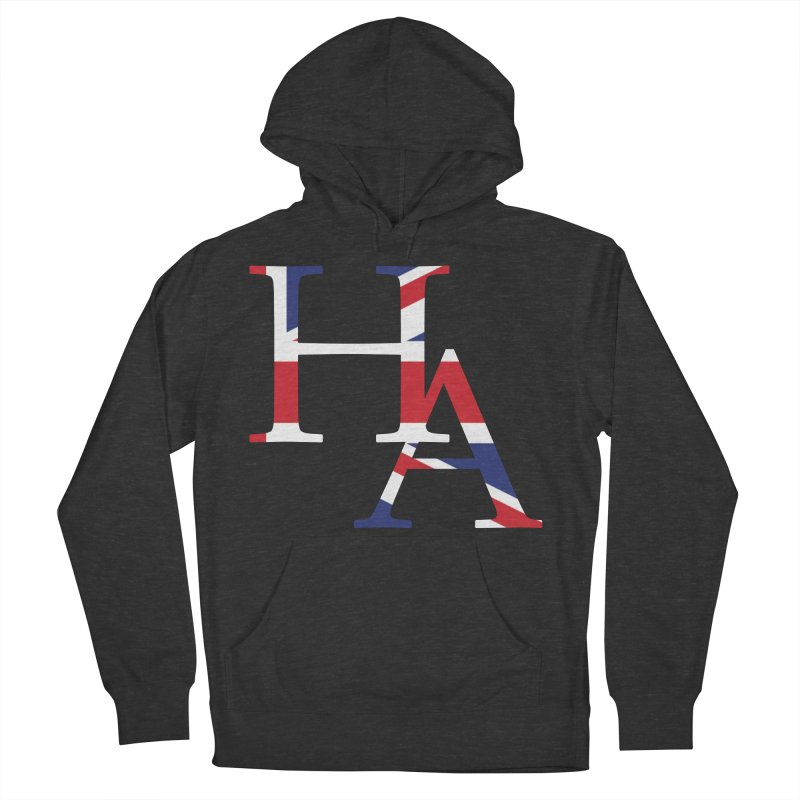 HA UK Men's French Terry Pullover Hoody by Hamster Age's Artist Shop