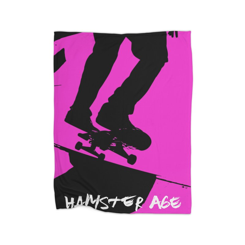 Shut Up and Skate! Home Blanket by Hamster Age's Artist Shop