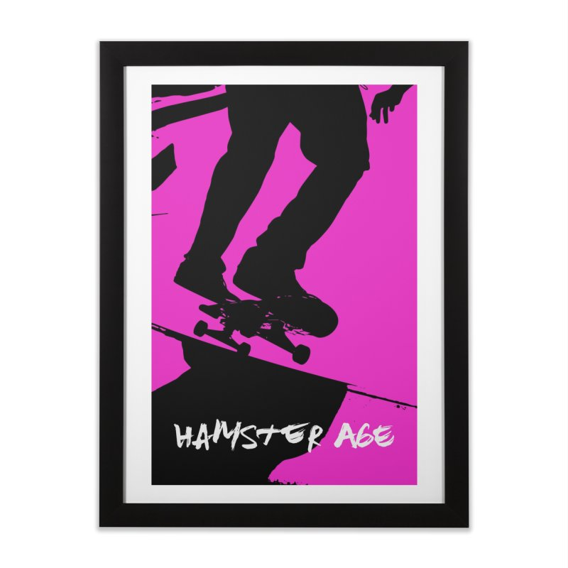 Shut Up and Skate! Home Framed Fine Art Print by Hamster Age's Artist Shop