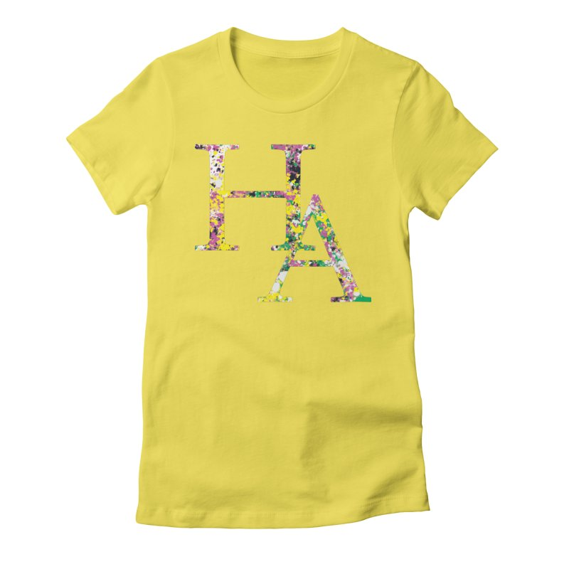 HA Paint Women's Fitted T-Shirt by Hamster Age's Artist Shop