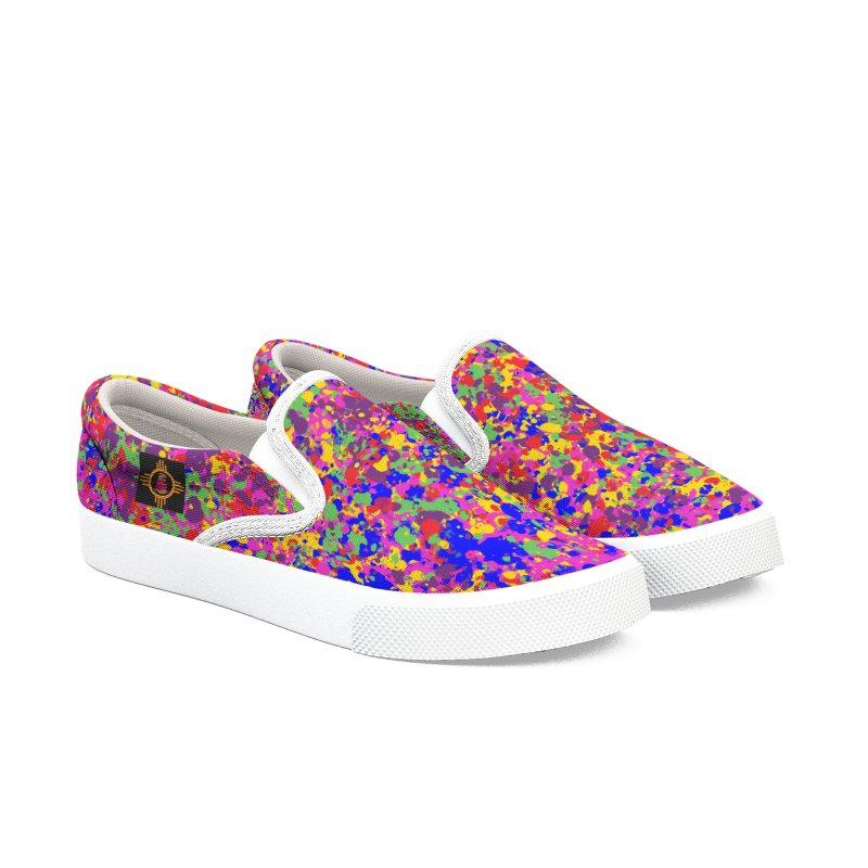 Speckles Men's Slip-On Shoes by Hamster Age's Artist Shop