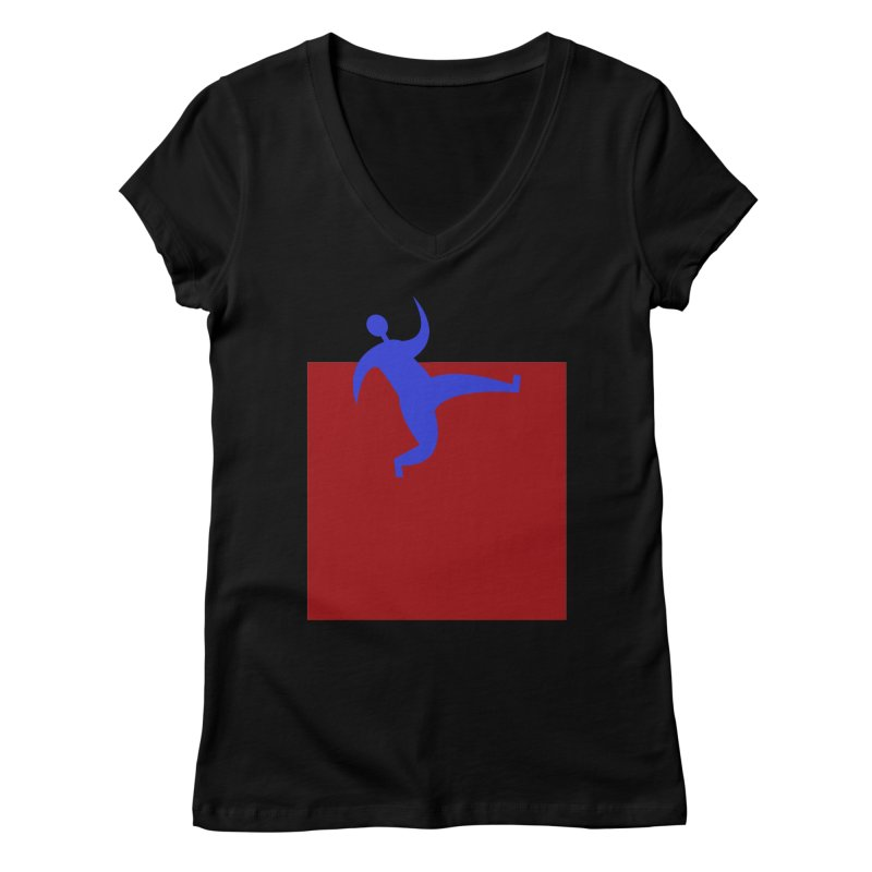Out Of The Box Women's V-Neck by Hana's Scribbles Artist Shop
