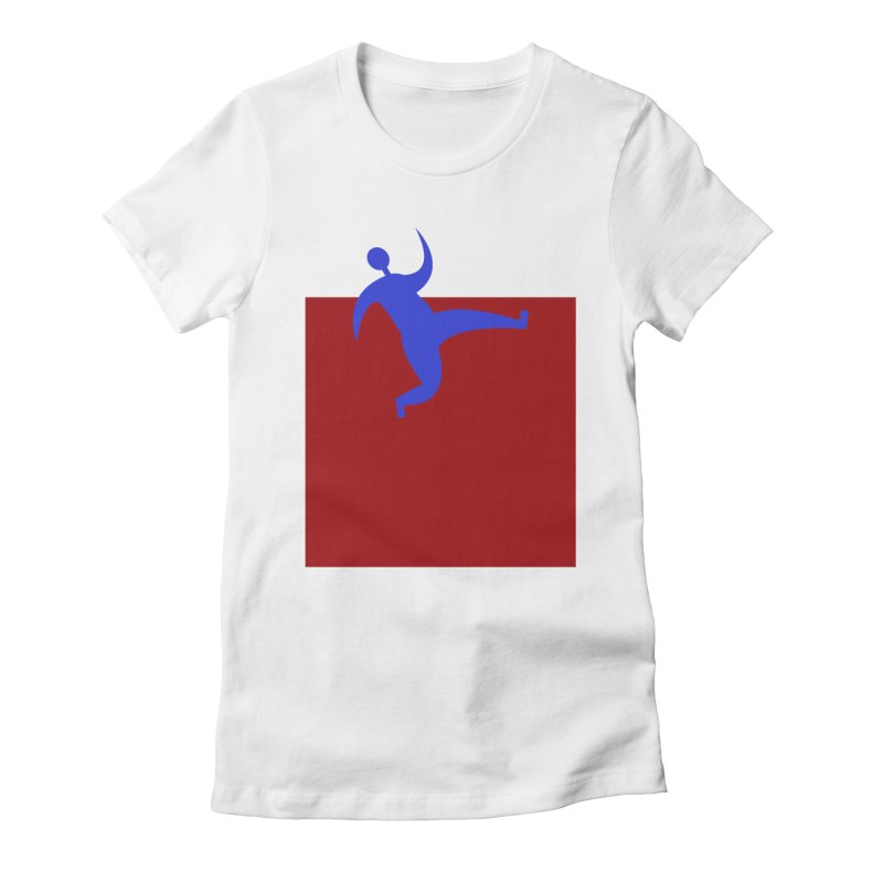 Out Of The Box Women's Fitted T-Shirt by Hana's Scribbles Artist Shop