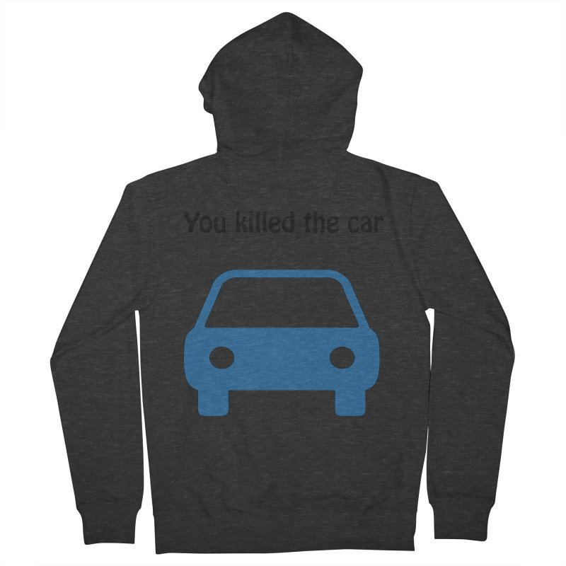 Dead Car Women's Zip-Up Hoody by Hana's Scribbles Artist Shop