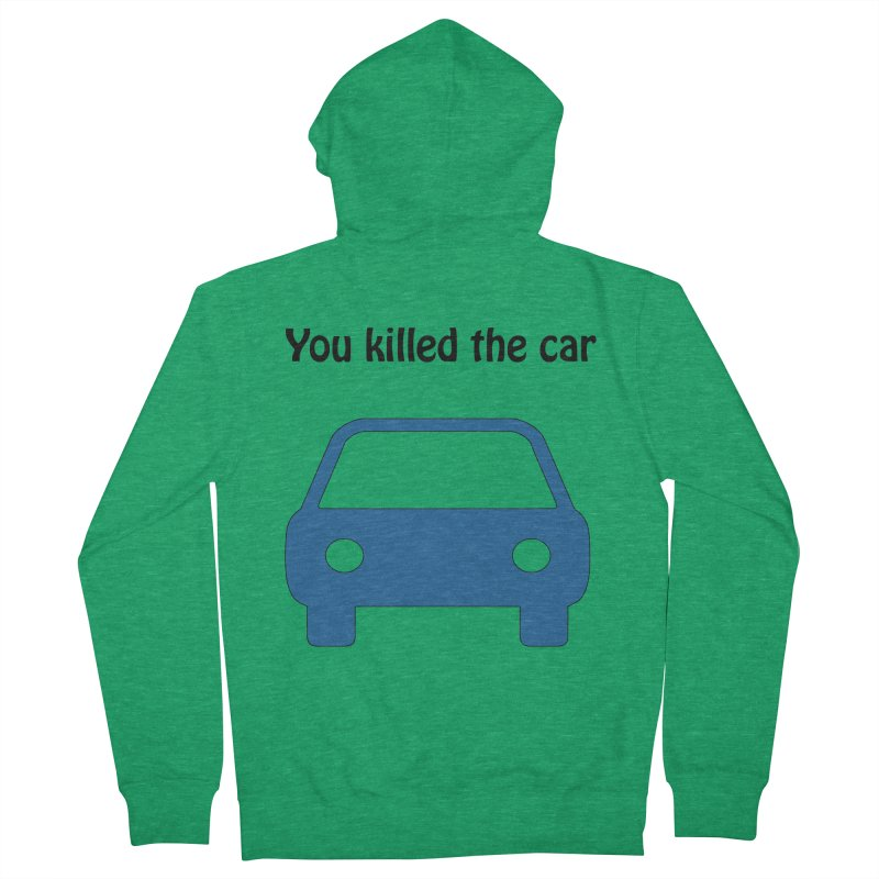 Dead Car Men's Zip-Up Hoody by Hana's Scribbles Artist Shop