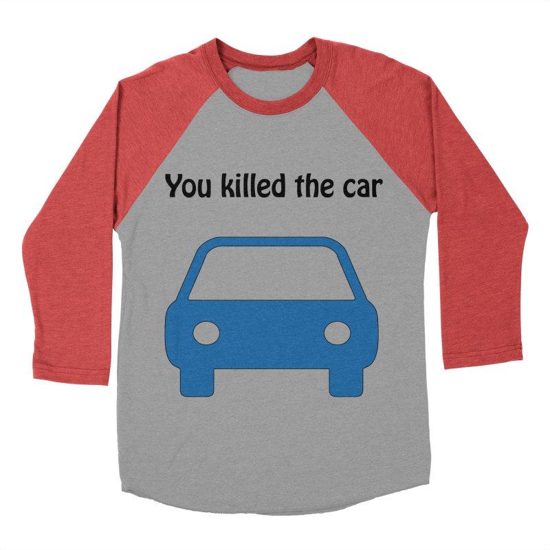 Dead Car Women's Baseball Triblend T-Shirt by Hana's Scribbles Artist Shop