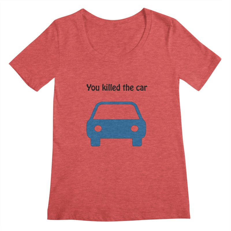 Dead Car Women's Scoopneck by Hana's Scribbles Artist Shop