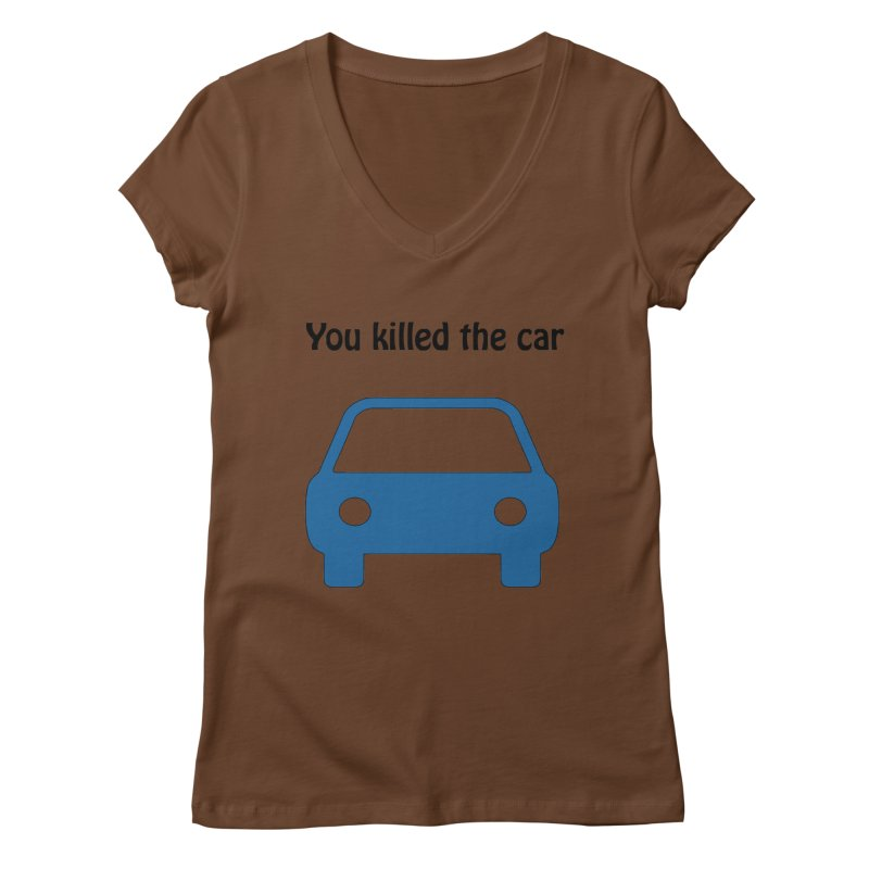 Dead Car Women's V-Neck by Hana's Scribbles Artist Shop