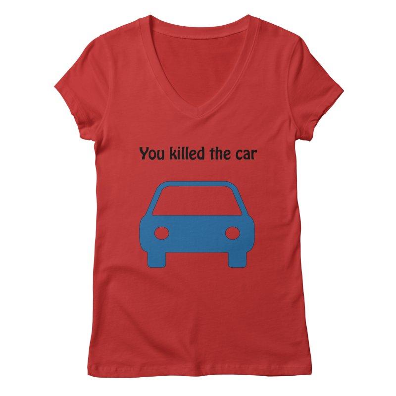 Dead Car Women's V-Neck by Hana's Scribbles Artist Shop