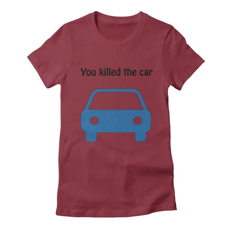 Dead Car Women's Fitted T-Shirt by Hana's Scribbles Artist Shop