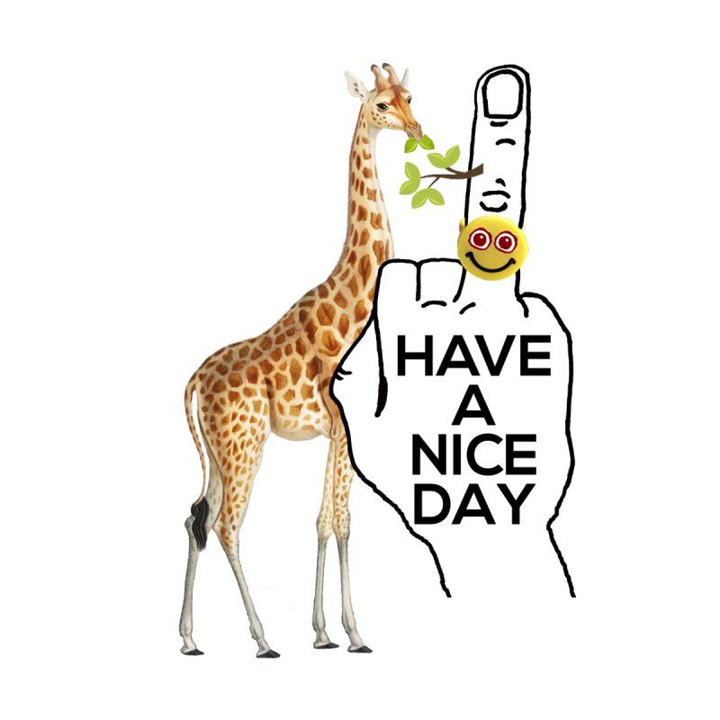 Giraffe supports the HAND GESTURE FOR eARTh Women's T-Shirt by the FRINGER! • H.A.N.D. GESTURE FOR eARTh!