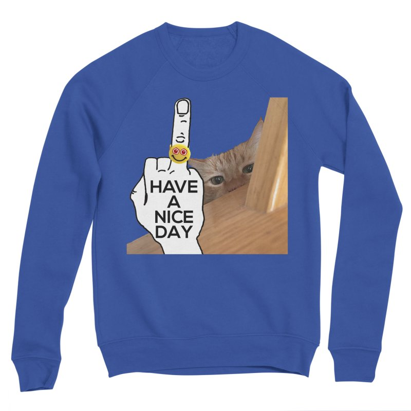 Cat supports the HAND GESTURE FOR eARTh Women's Sponge Fleece Sweatshirt by H.A.N.D. GESTURE FOR eARTh! • View COLLECTIONS Too
