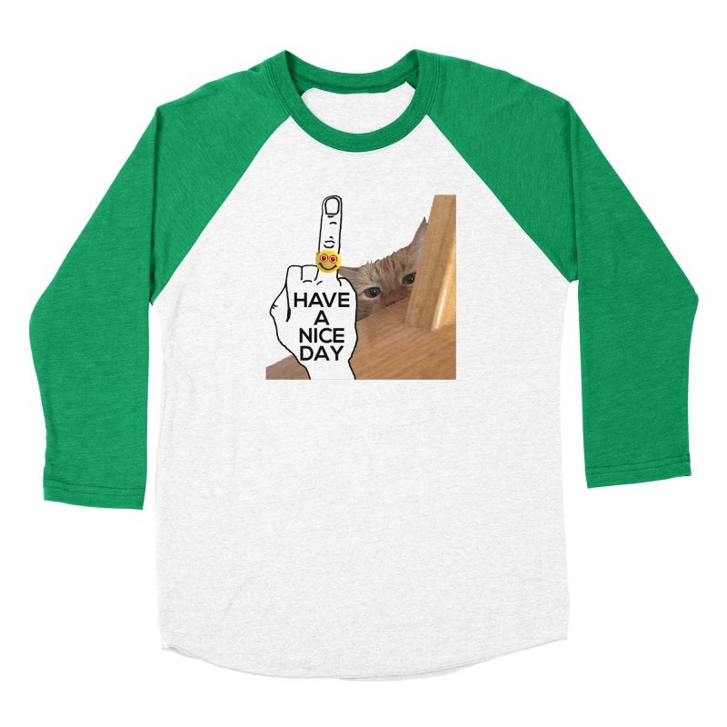 Cat supports the HAND GESTURE FOR eARTh Women's Baseball Triblend Longsleeve T-Shirt by H.A.N.D. GESTURE FOR eARTh! • View COLLECTIONS Too