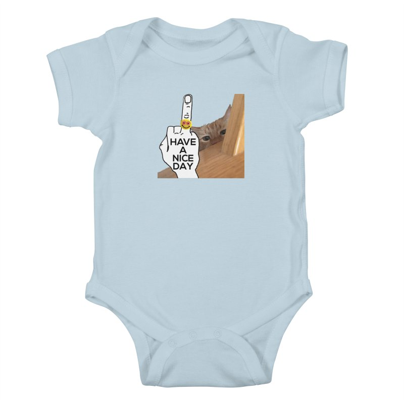 Cat supports the HAND GESTURE FOR eARTh Kids Baby Bodysuit by H.A.N.D. GESTURE FOR eARTh! • View COLLECTIONS Too