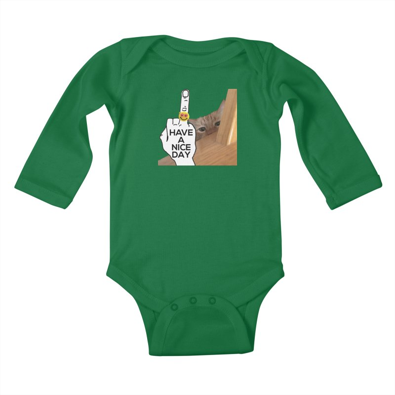 Cat supports the HAND GESTURE FOR eARTh Kids Baby Longsleeve Bodysuit by H.A.N.D. GESTURE FOR eARTh! • View COLLECTIONS Too