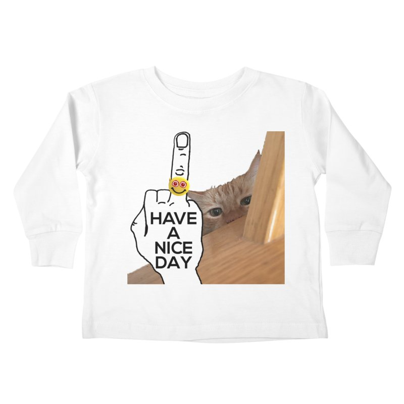 Cat supports the HAND GESTURE FOR eARTh Kids Toddler Longsleeve T-Shirt by H.A.N.D. GESTURE FOR eARTh! • View COLLECTIONS Too