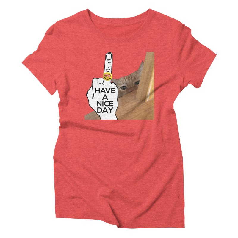 Cat supports the HAND GESTURE FOR eARTh Women's Triblend T-Shirt by H.A.N.D. GESTURE FOR eARTh! • View COLLECTIONS Too