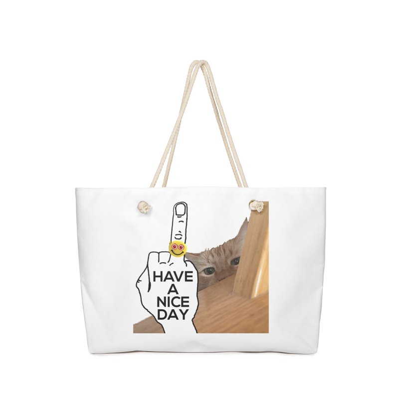 Cat supports the HAND GESTURE FOR eARTh Accessories Bag by the FRINGER! • H.A.N.D. GESTURE FOR eARTh!