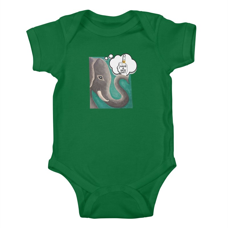 Ele supports the HAND GESTURE FOR eARTh Kids Baby Bodysuit by the FRINGER! • H.A.N.D. GESTURE FOR eARTh!