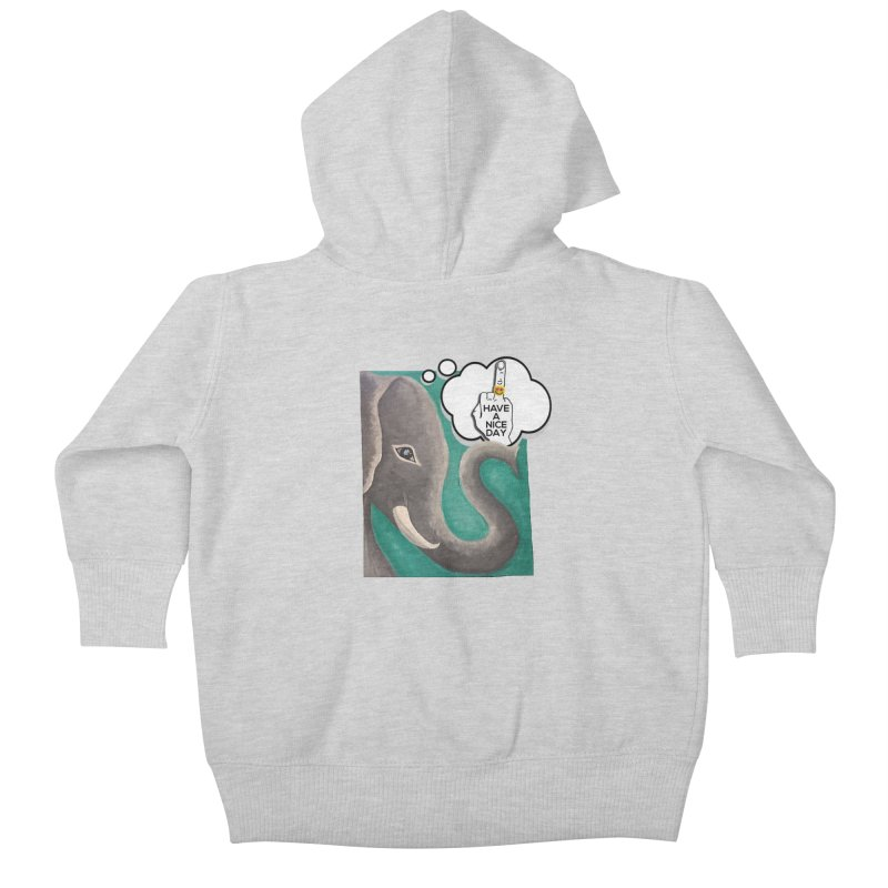 Ele supports the HAND GESTURE FOR eARTh Kids Baby Zip-Up Hoody by H.A.N.D. GESTURE FOR eARTh! • View COLLECTIONS Too