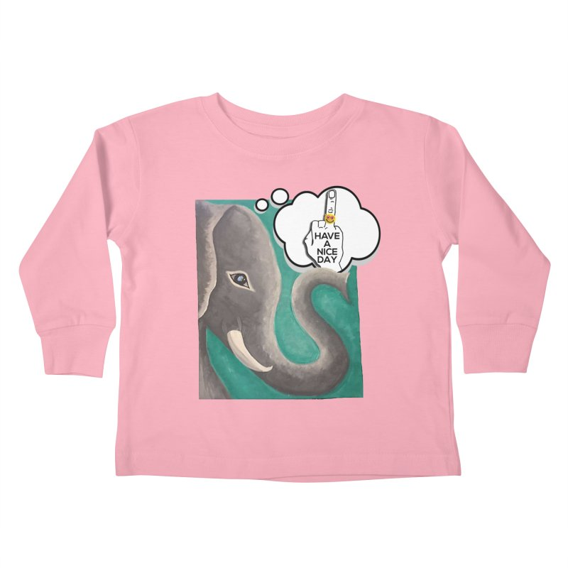Ele supports the HAND GESTURE FOR eARTh Kids Toddler Longsleeve T-Shirt by H.A.N.D. GESTURE FOR eARTh! • View COLLECTIONS Too