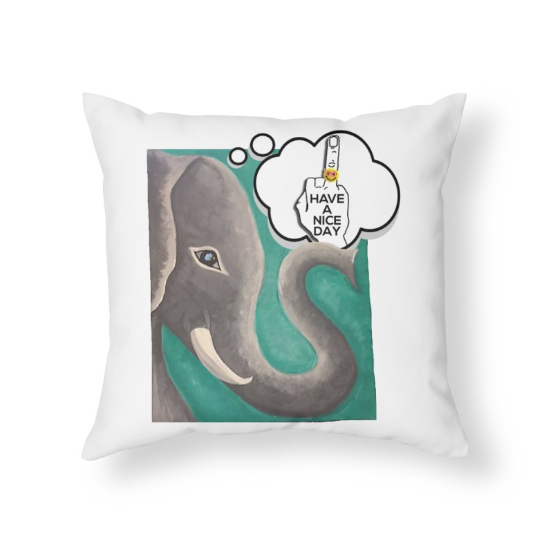 Ele supports the HAND GESTURE FOR eARTh Home Throw Pillow by H.A.N.D. GESTURE FOR eARTh! • View COLLECTIONS Too
