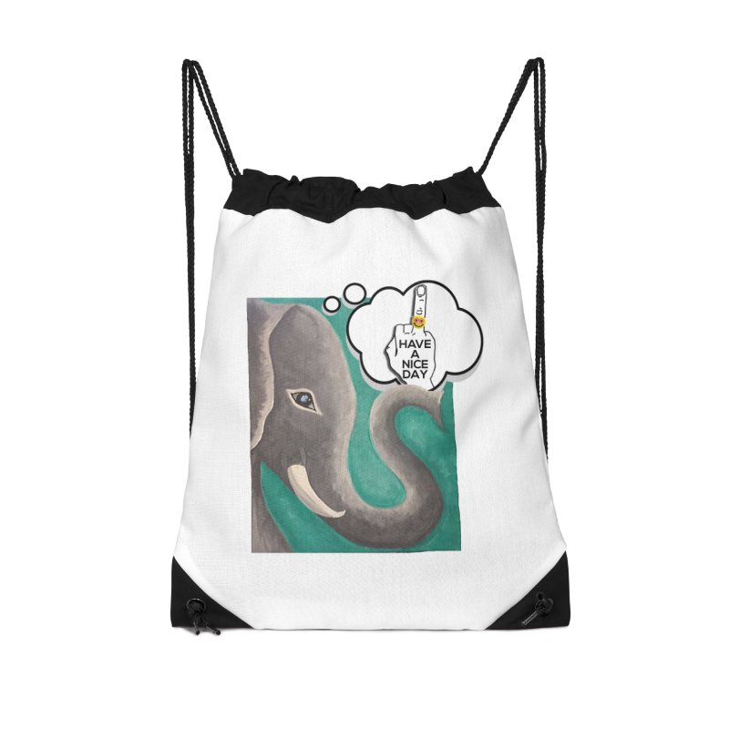 Ele supports the HAND GESTURE FOR eARTh Accessories Drawstring Bag Bag by H.A.N.D. GESTURE FOR eARTh! • View COLLECTIONS Too