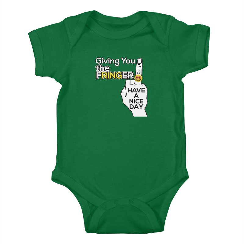 the FRINGER is the HAND GESTURE FOR eARTh Kids Baby Bodysuit by the FRINGER! • H.A.N.D. GESTURE FOR eARTh!