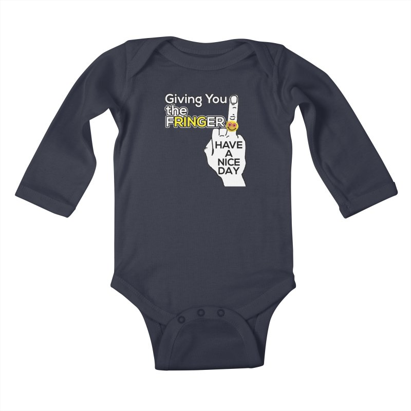the FRINGER is the HAND GESTURE FOR eARTh Kids Baby Longsleeve Bodysuit by the FRINGER! • H.A.N.D. GESTURE FOR eARTh!