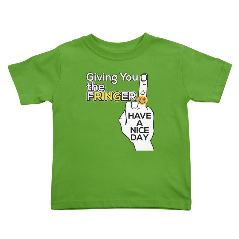 the FRINGER is the HAND GESTURE FOR eARTh Kids Toddler T-Shirt by the FRINGER! • H.A.N.D. GESTURE FOR eARTh!
