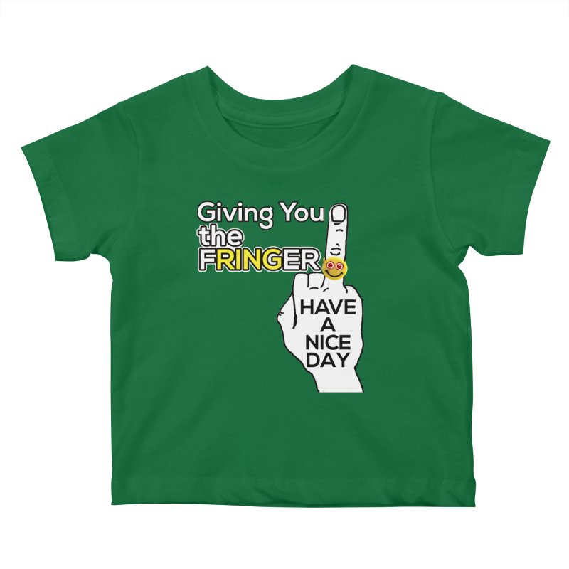the FRINGER is the HAND GESTURE FOR eARTh Kids Baby T-Shirt by the FRINGER! • H.A.N.D. GESTURE FOR eARTh!