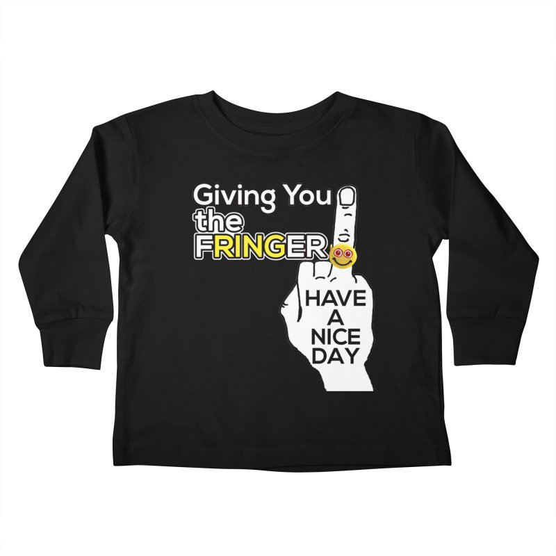 the FRINGER is the HAND GESTURE FOR eARTh Kids Toddler Longsleeve T-Shirt by the FRINGER! • H.A.N.D. GESTURE FOR eARTh!