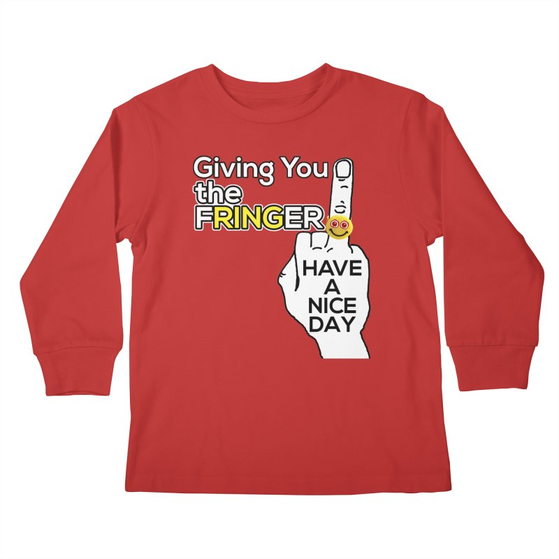 the FRINGER is the HAND GESTURE FOR eARTh Kids Longsleeve T-Shirt by H.A.N.D. GESTURE FOR eARTh! • View COLLECTIONS Too